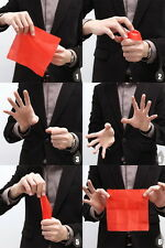 3x Thumb Tip Finger Fake Magic Trick Vinyl Toy Fun Joke Prank Vanish Red Silk Uu