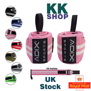18 Inch Power Lifting Wrist Wraps Sold as Pair & One Size Fits All