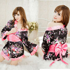 Hot nightdress Colorful Kimono Sexy lingerie underwear nightgown Sex Clothes