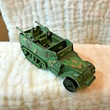 1974 HOT WHEELS Army Green Diecast Half Track Malaysia gun bucket camouflage !