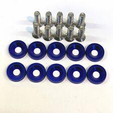 Aluminum overfender Washers Bolts 10pcs m6x20mm BLUE drift track engine bay