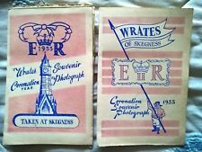 2 x 1953 Coronation Year Wrates of Skegness holiday photos in presentation cards