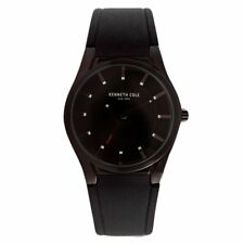 Kenneth Cole New York $125 Retail  Black Silicone Strap Watch 10031356
