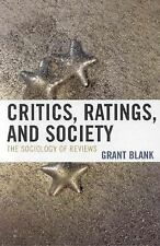 CRITICS, RATINGS, AND SOCIETY OF REVIEWS - NEW HARDCOVER BOOK