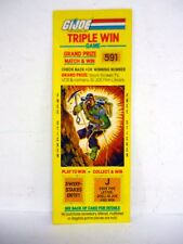 GI JOE TRIPLE WIN GAME Vintage Action Figure Scratch Off w/Sticker ALPINE 1985