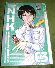 Welcome to the NHK Volume 3 Kenji Oiwa Tatsuhiko Taki Manga Ex-Library Good Cond
