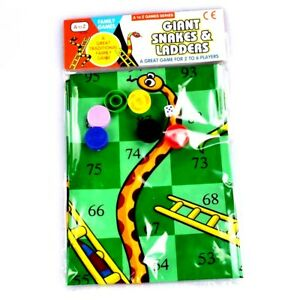 Giant Snakes & Ladders Game Traditional Indoor Out Family Kids Activity Toy Gift