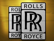 5 PCS Flight Engine Rolls-Royce Sticker, Silver Color for Aviation Lovers Car