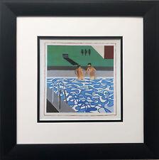 "David Hockney ""Two Boys in a Pool, Hollywood"" Pop Art California 2 men"