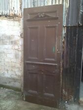 Large Solid Vintage Antique Mahogany External Front Door 79 7/8 H X 32 3/4 W