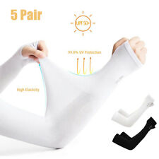 5PCS UV Sun Protection Cooling Arm Sleeves - UPF 50 Compression Arm Cover Shield