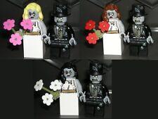 LEGO ZOMBIE WEDDING Bride Groom Minifigures NEW Custom Cake Topper YOU CHOOSE