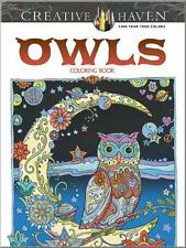 ADULT COLORING BOOK ~ OWLS ~ PERFORATED PAGES 4 FRAMING ~ NEW