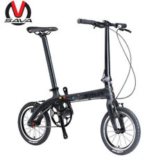 SAVA 14'' ZQ Folding Bike Carbon Fiber Urban Mini City Bicycle Single Speed New