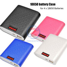 DIY Power Bank Case 12000mAh 4X 18650 USB Battery Charger Box For iPhone Samsung