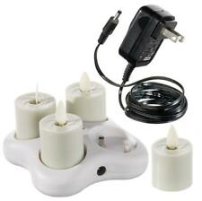 "New Liown Rechargeable 1.6"" Moving Flame Tealight System with Charger 36120"