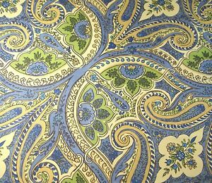 """April Cornell Canvas Table Runner French Country Paisley Floral 17"""" X 90"""" Cotton"""