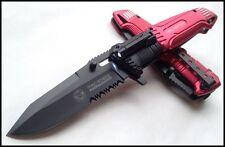 Couteau de Secours Fire Fighter A/O TAC-FORCE Lame Acier 440 Serr Torche TF749FD