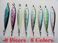 25 Fishing Lures 3oz Striper Vertical Bluefish Yellowtail Diamond Minnow Jig