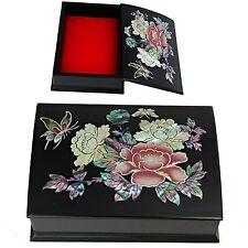 Mini Jewelry Box Mother of Pearl Jewelry Holder Biz Card Box HJL706 BRose