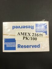 American Express Reserved Table Signs Pack of 100