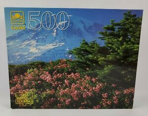 """Golden Guild 500 Piece Mt. Rainer 15.5"""" X 18"""" Ages 10+ Free Shipping"""