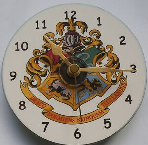 Harry Potter Hogwarts CD clock Silent non ticking plus stand