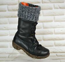 EL NATURALISTA Yggdrasil Womens Black Leather Mid-Calf Boots Size 4 UK 37 EU