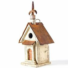 """13.11"""" H Wooden Bird House Hanging Church Birdhouse For Outsi"""
