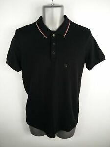 MENS DIESEL BLACK BUTTON UP SMART/CASUAL SHORT SLEEVED SLIM POLO SHIRT L LARGE