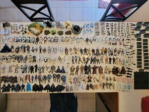 MEGA Lot of STAR WARS action figures, 186 figures + accessories