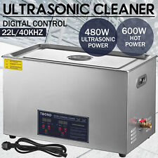 22L Liter Ultrasonic Cleaner Digital Cleaning Equipment Industry Heated W/ Timer