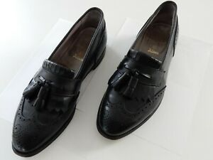 Alden Men's Black Wingtip Tassle Loafer Dress Shoes Size 10.5