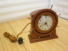 Vintage Seth Thomas Wooden Ship Wheel Clock Nautical Cat. No. 3667 Capstan 407