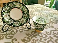"""1970's Royal Albert """"MADONNA LILY"""" Footed Tea Cup & Saucer Provincial Flowers"""