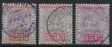 British Guiana stamps 1889 SG 204-206 SHIPS CANC VF