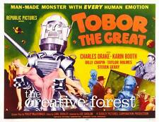 Tobor The Great, Vintage Sci-Fi Movie Poster Canvas Print 30x24 in.
