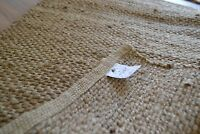 Jute Rug Handmade Flat Knotted Dhurrie Runner 70cm x145cm Natural Eco 2.3'x4.6'4