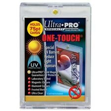 100 ULTRA PRO One Touch Magnetic Holders 75pt UV Gold Magnet New