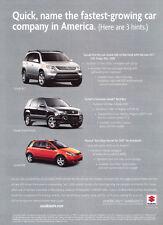 2007 Suzuki Grand Vitara and SX4  - Classic Car Advertisement Print Ad J110