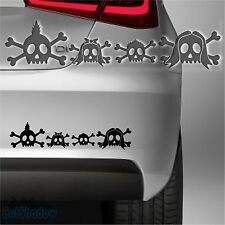 Totenkopf Familie Skull family Aufkleber Funny Sticker Baby on Board Auto decal