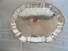 Leonard Silverplate footed tray Italy