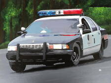 CHEVY CAPRICE ACRYLIC PAINTING STRETCH CANVAS POLICE SS