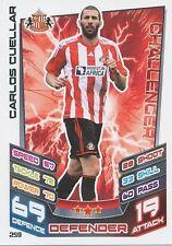 N°259 CARLOS CUELLAR # ESPANA SUNDERLAND.FC TRADING CARD MATCH ATTAX TOPPS 2013
