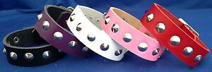 Leather Bracelet Conical Studs Choice of Colour Hand Made Real Leather Goth Punk