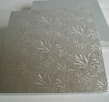 """6"""" Square Silver Cake Board Double Thick 3mm Deep"""