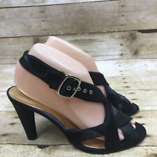 Antonio Melani Women's Size 8M Black Strappy Evening Party Sandals Heels Shoes