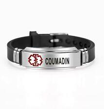 Coumadin Warfarin Medical Alert Bracelet Stainless Steel Adjustable Survival
