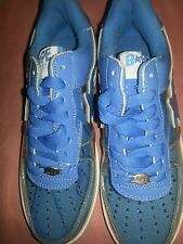 Bathing Ape mens shoe size 6 sky blue and clear