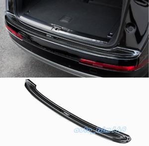 Black titanium Car Rear Bumper Guard Sill Protector Plate For Audi Q7 2016-2019
